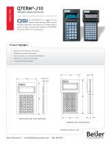 Inexpensive QTERM-J10 character terminal data sheet - 1