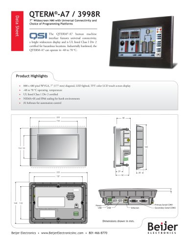 Rugged QTERM-A7 with Universal Connectivity datasheet