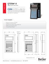 Rugged QTERM-II character terminal data sheet - 1
