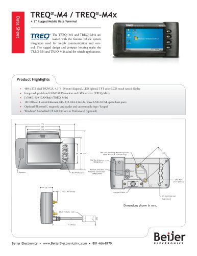 Rugged and Wireless TREQ-M4/M4x Data Sheet