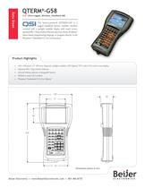 Ultra-rugged QTERM-G58 handheld graphic HMI datasheet - 1