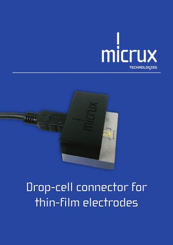 Drop-cell connector for  thin-film electrodes