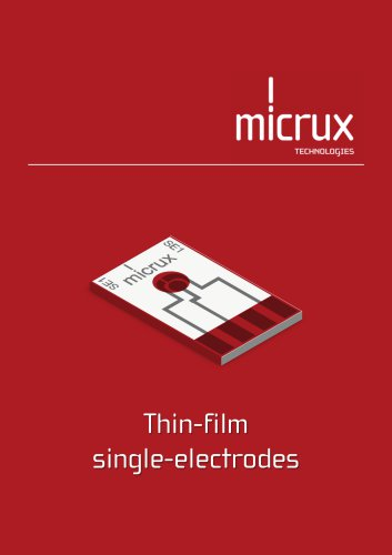 Thin-film  single-electrodes