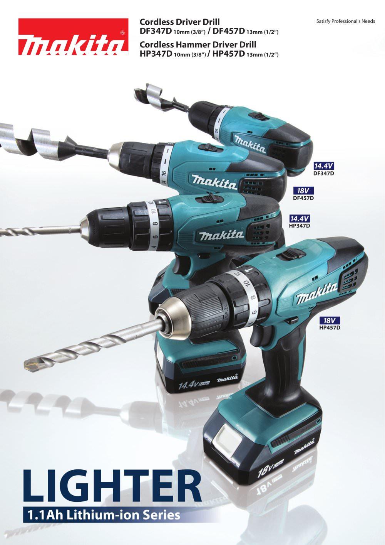 New Makita df 457 dwe x2 – Het gereedschap is elektrisch JR42