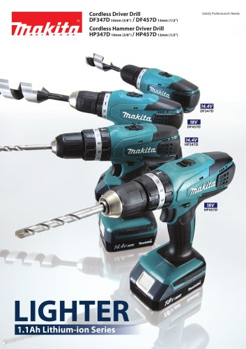 Cordless Driver Drill DF347D, DF457D Cordless Hammer Driver Drill HP347D, HP457D