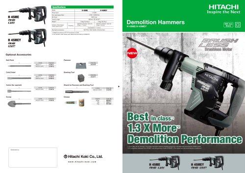Demolition Hammers H 45ME/H 45MEY