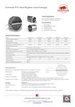 Universal PTC Heat Register (round design)