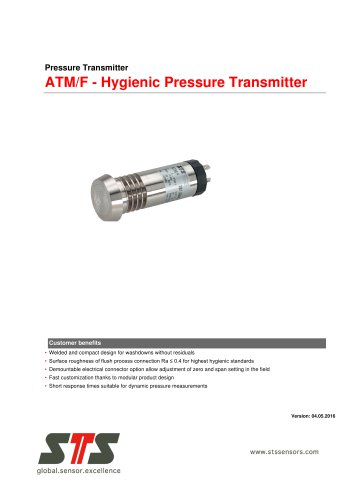 ATM/F Hygienic Pressure Transmitter