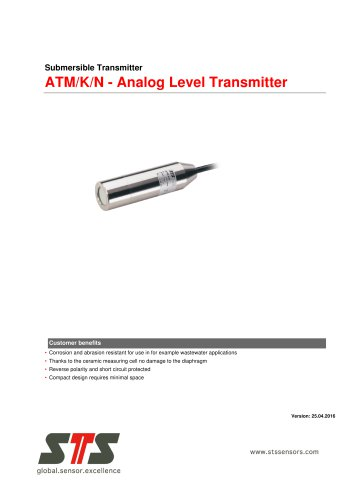 ATM/K/N - Analog Level Transmitter