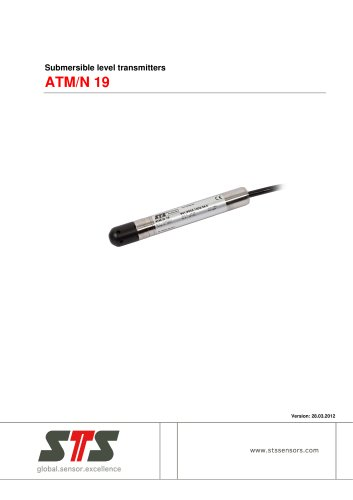 ATM/N 19 Miniature submersible level transmitter