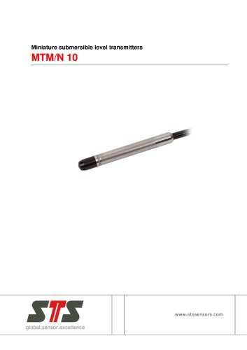 MTM/N 10 Miniature submersible level transmitter