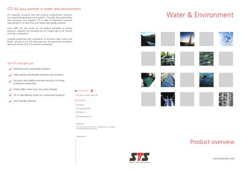 Product overview Water