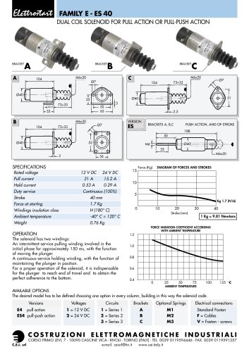 DUAL COIL SOLENOID FOR PULL ACTION OR PULL-PUSH ACTION FOR