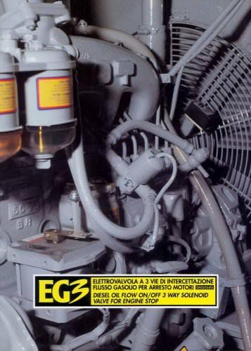 EG3 - DIESEL OIL FLOW ON/OFF 3 WAY SOLENOID VALVE FOR ENGINE STOP