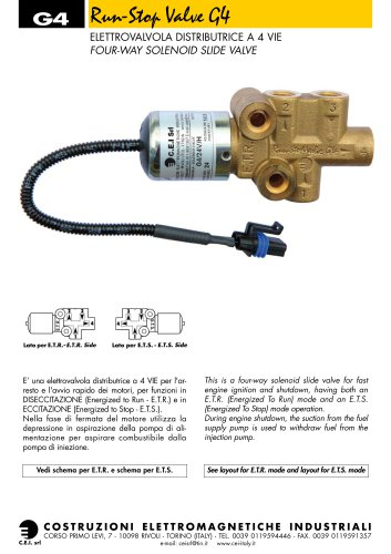 SOLENOID VALVES FOR DIESEL ENGINES