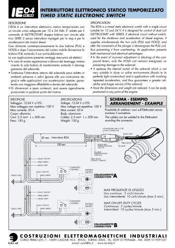 TIMED STATIC ELECTRONIC SWITCH