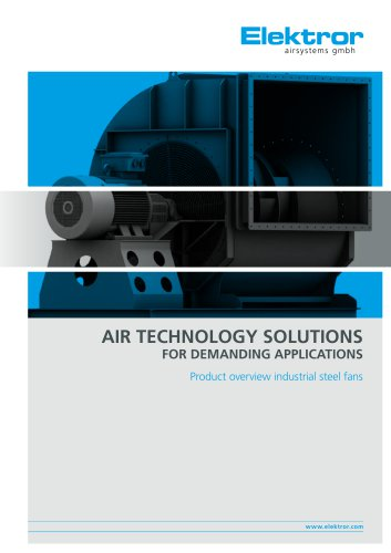Product overview industrial steel fans