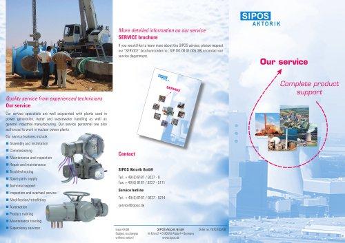 SIPOS Aktorik Service - Business activities
