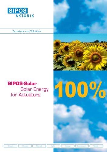 SIPOS Solar - solar energy for actuators