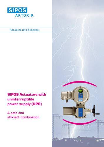 SIPOS UPS: Actuators with uninterruptible power supply (UPS)