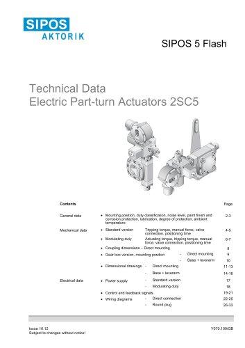 Technical Data SIPOS 5 part-turn actuators 2SC5