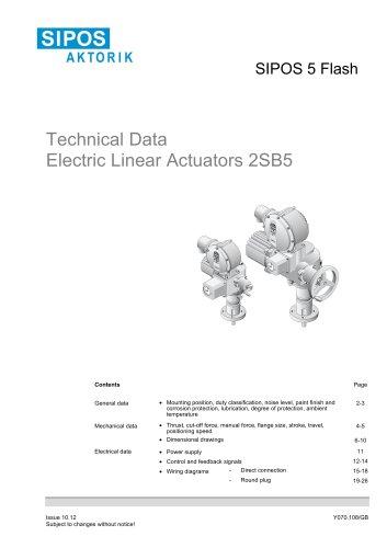 Tecnical Data SIPOS 5 linear actuators 2SB5