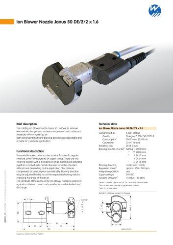 Ion Blower Nozzle Janus 50 DE