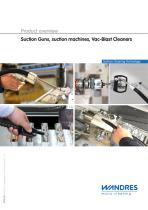 Suction Guns, suction machines, Vac-Blast Cleaners (product overview)