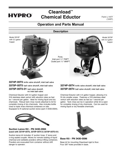 Cleanload OIPM - Hypro Pressure Cleaning - PDF Catalogs