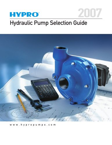Hydraulic Pump Selection Guide - Hypro Pressure Cleaning - PDF