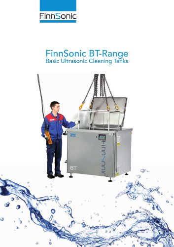 FinnSonic BT Industrial Parts Washer for Ultrasonic Cleaning