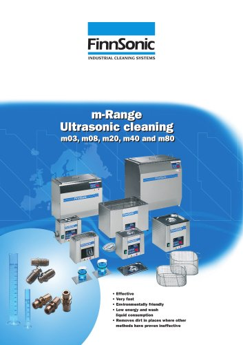 Ultrasonic cleaners, table top
