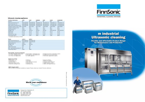 Ultrasonic cleaning machines for industrial use