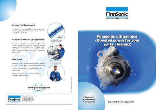 Ultrasonic components for industrial cleaning