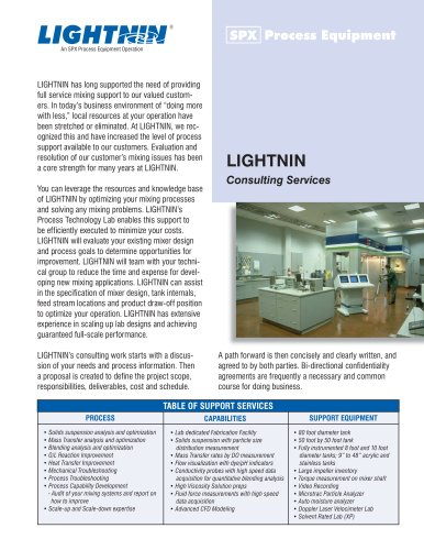 LIGHTNIN Consulting Service