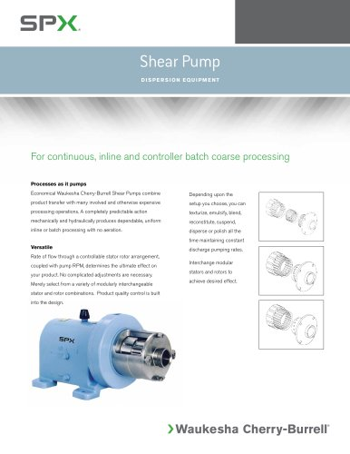 Shear Pumps