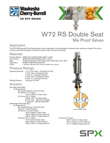 W72 RS Mix Proof Valves