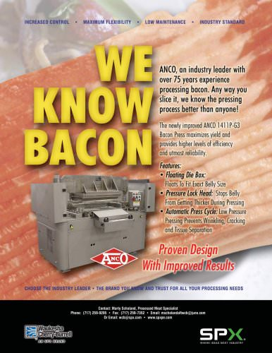 We Know Bacon - Flyer
