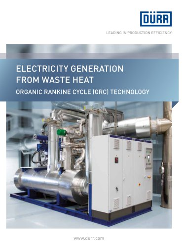Organic Rankine cycle (orc) technology