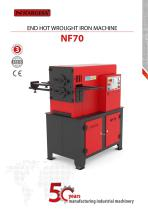 End Hot Wrought Iron Machine NF70