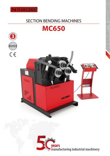 MC650 Section and pipe bending machine