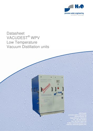VACUDEST® WPV