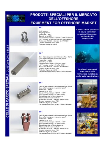 EQUIMENT FOR OFFSHORE MARKET