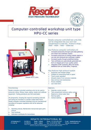 Computer controlled work shop test unit