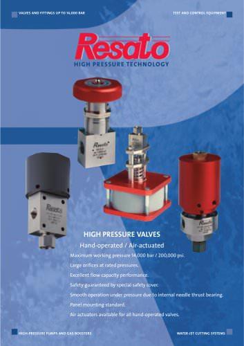 Resato high pressure needle valves