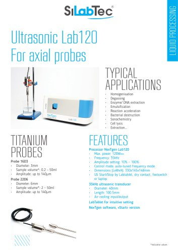 Lab120 for axial probe
