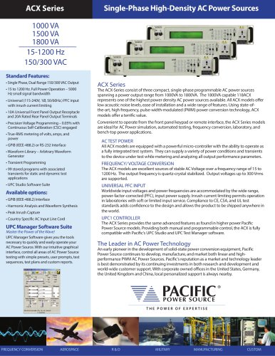 ACX Series  Single-Phase High-Density AC Power Sources