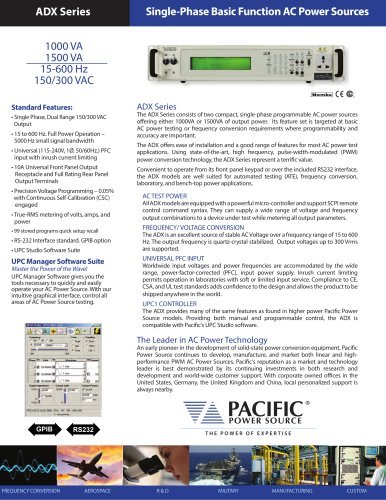 ADX Series Single-Phase Basic Function AC Power Sources