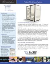 AMX Parallel AC Power Systems Product Brochure - 1