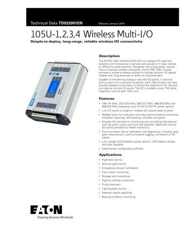 105U-1,2,3,4 Wireless Multi-I/O